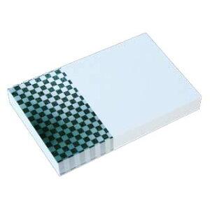 名刺 4号 50枚 フォトコレクション100 PM-29 市松模様 白黒 【 名入れ 印刷なし 紙の販売です 】【4号 写真入り 模様】