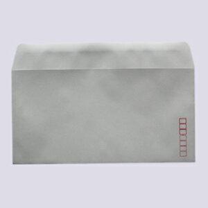 封筒 パステルカラー封筒 カマス貼 洋長3 パステル グレー 100g 枠入 100枚 yr5936