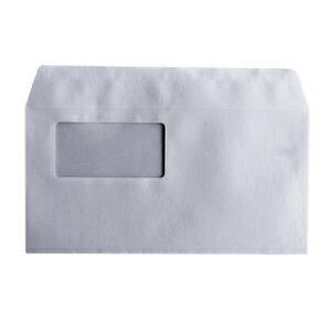 封筒 洋長3 窓付き封筒 Kカラー 85g カマス貼 窓枠寸法:90m×45mm 郵便番号の枠なし 1000枚 カラー封筒