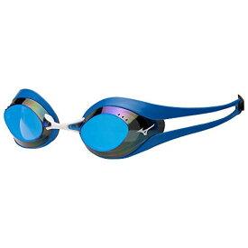 MIZUNO スイミングゴーグル GX・SONIC EYE N3JE600122 22:ブルー×ライトスモーク×ブルーミラー