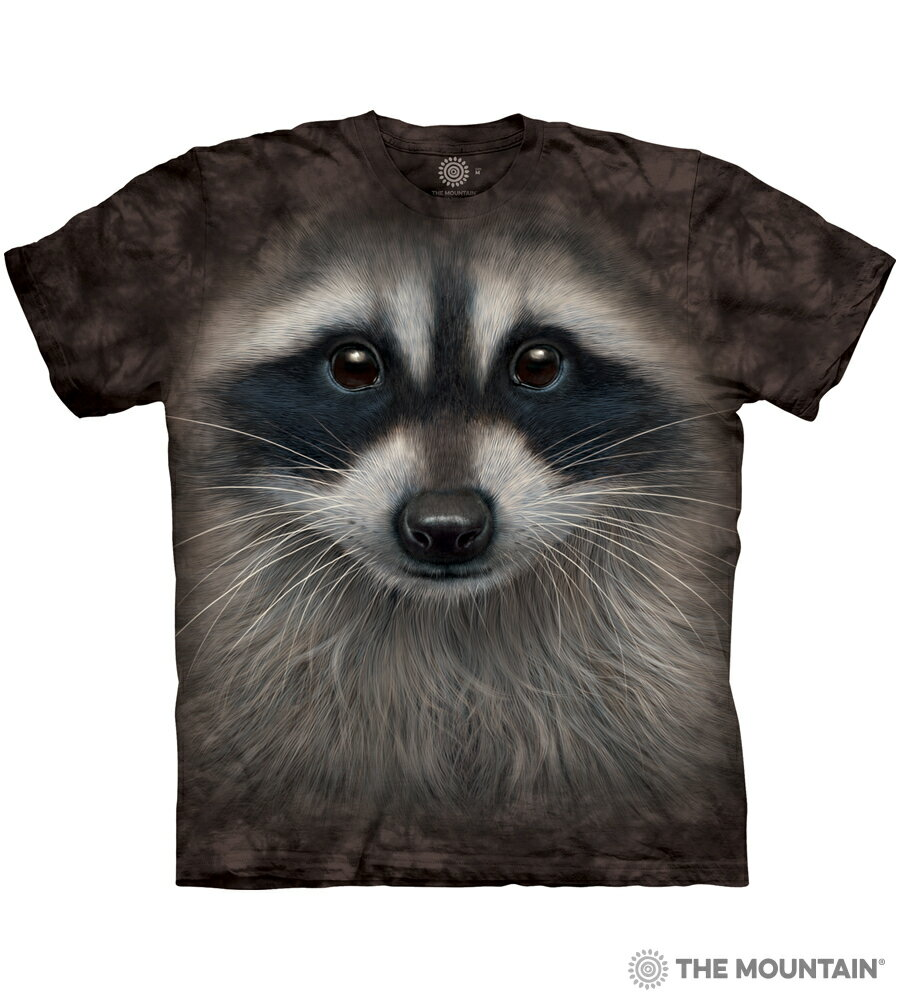 The Mountain Tシャツ Raccoon Face (アライグマ 洗熊 キッズ 子供用 女児 男児) S-2L 【輸入品】 半袖 アニマル マウンテン 動物