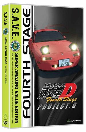 頭文字D 4th Stage 廉価版 DVD (全24話 北米版)