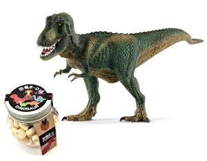 【当店でしか買えません】シュライヒ (Schleich) 恐竜 ティラノサウルス・レックス(ダークグリーン) フィギュア 14587 & 恐竜ボーロ 50g (2種セット)たまごボーロ(卵ボーロ)子供 男 グッズ 誕