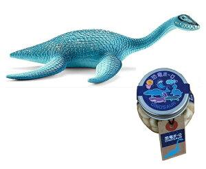 【当店でしか買えません】シュライヒ (Schleich) 恐竜 プレシオサウルス フィギュア 15016 & 海の恐竜ボーロ 50g (2種セット)たまごボーロ(卵ボーロ)きょうりゅう ダイナソー 子供 男 おもち