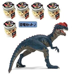 【当店でしか買えません】シュライヒ (Schleich) 恐竜 ディロフォサウルス フィギュア 14567 & 恐竜ボーロ 50g 5個 (2種・6点セット)たまごボーロ(卵ボーロ)子供 男 グッズ 誕生日 誕生日プレ