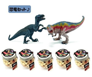 【当店でしか買えません】シュライヒ (Schleich) 恐竜 ティラノサウルス・レックスとベロキラプトル (小) フィギュア 42216 & 恐竜ボーロ 50g 5個 (2種・6点セット)たまごボーロ(卵ボーロ)き