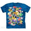 The Mountain Tシャツ Tropical Jam (熱帯魚 クマノミ メンズ 男性用 男女兼用 ) XL-4L 【輸入品】 大きいサイズ 半袖