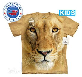 The Mountain Tシャツ The Smithsonian Big Face Lioness (The Smithsonian ライオン キッズ 子供用)【輸入品】半袖
