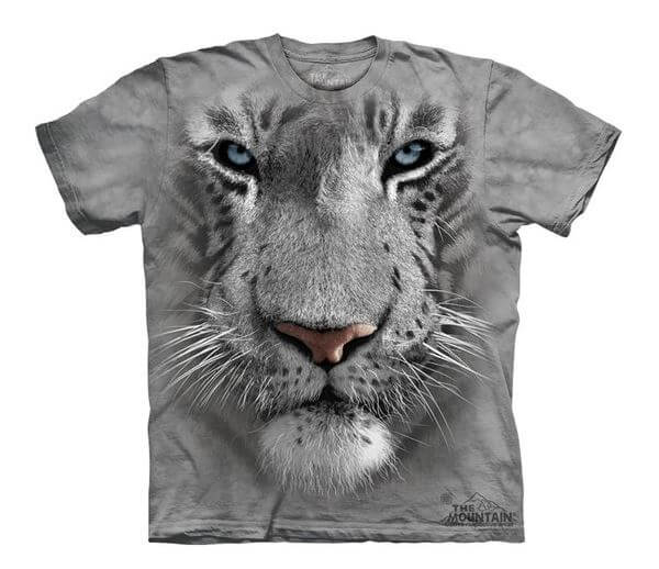 The Mountain Tシャツ White Tiger Face (トラ ホワイトタイガー 白虎 キッズ 子供用)【輸入品】半袖