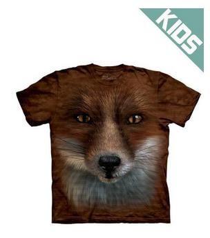 The Mountain Tシャツ Big Face Fox (キツネ 狐 キッズ 子供用)【輸入品】半袖