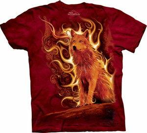 The Mountain Tシャツ Phoenix Wolf (オオカミ メンズ 男性用 男女兼用 ) XL-4L 【輸入品】 大きいサイズ 半袖