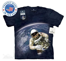 The Mountain Tシャツ The Smithsonian First American Space Walk (The Smithsonian 宇宙 宇宙飛行士 メンズ 男性用 男女兼用) S-L【輸入品】半袖