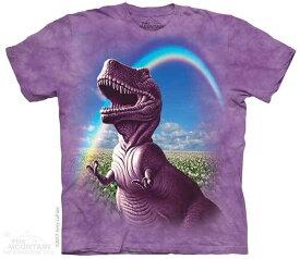 The Mountain Tシャツ Happiest T-Rex Kids T-Shirt ティラノサウルス 恐竜 (キッズ 子供用 女児 男児) S-2L【輸入品】半袖 マウンテン