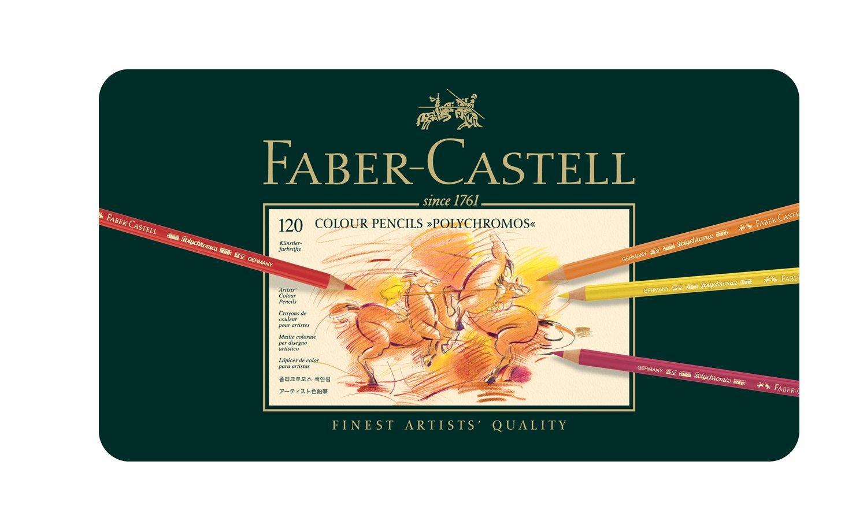 ファーバーカステル ポリクロモス色鉛筆セット 120色 缶入 110011
