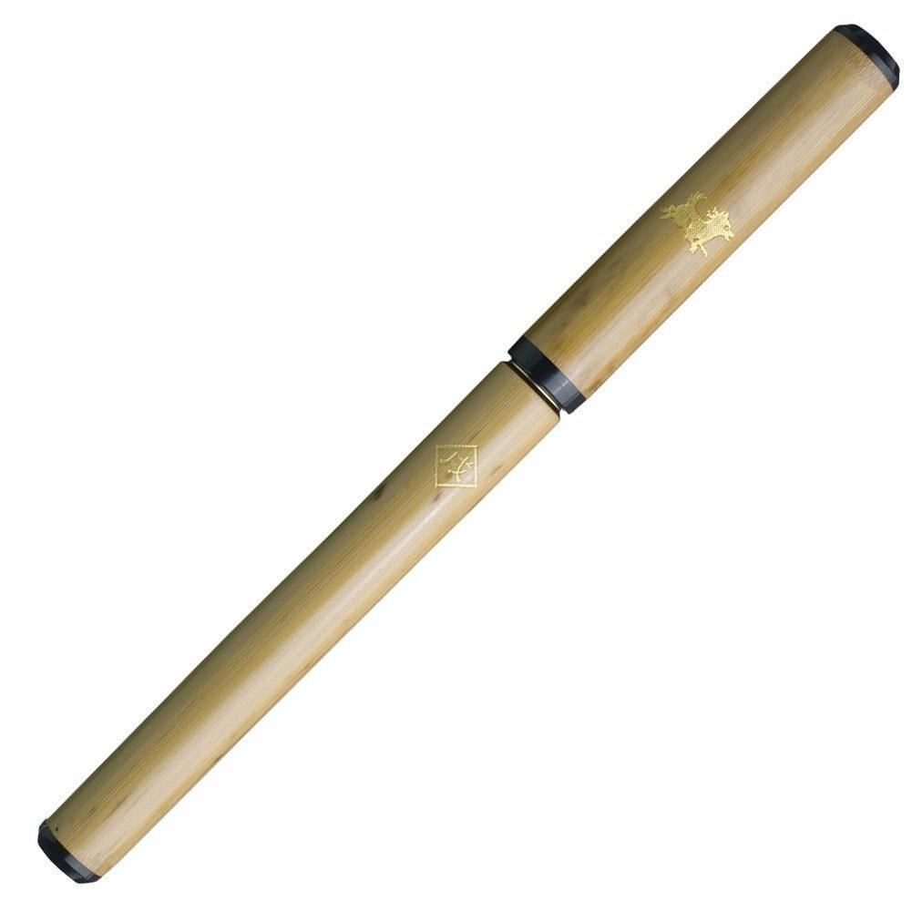 あかしや 筆ペン 天然竹筆ペン 透明ケース 戌 AK2700MP-11