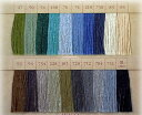モコMOCO手縫い糸【生地同梱メール便OK!】ふっくらとしたステッチやボタン付けに!モコ糸/2緑〜褐色・黒【フジックス…