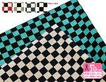 市松格子(サザンクロス生地)巾110cm【和風・モダン】【プリント・布】