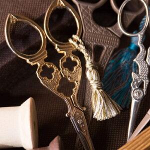 【オN8】アンティーク調ハサミ 3本セット 糸切り鋏 紐切り シザー 手芸鋏