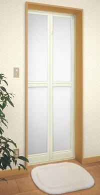 浴室ドア折れ戸2枚折れ中折れリフォーム【窓工房ナカサ】