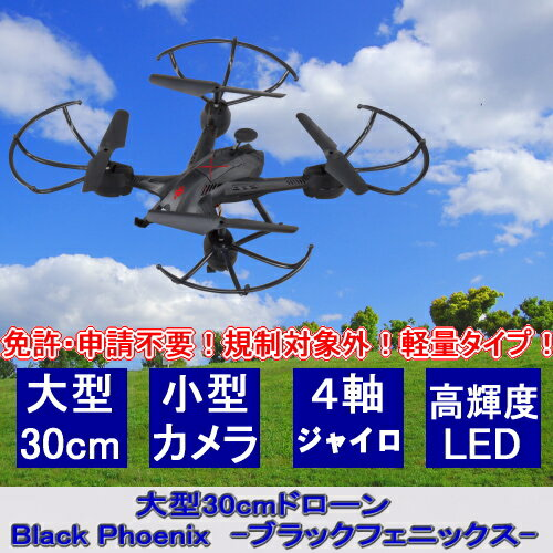 【基本宅配便送料無料】 『大型 30cm ドローン Black Phoenix (ブラックフェニックス) Ho-80036』