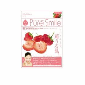 ※12個までゆうパケット送料200円※ 『エッセンス マスク 化粧水 タイプ ストロベリー ( Strawberry ) 【1枚入】 ( Essence Mask Series for lotion type ) 【Pure Smile (ピュア スマイル)】』
