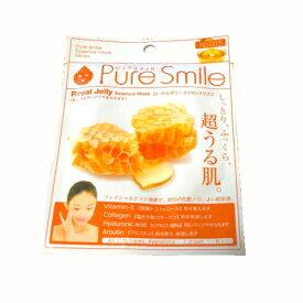 ※12個までゆうパケット送料200円※ 『エッセンス マスク 化粧水 タイプ ローヤルゼリー ( Royal jelly ) 【1枚入】 ( Essence Mask Series for lotion type ) 【Pure Smile (ピュア スマイル)】』