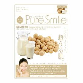※12個までゆうパケット送料200円※ 『エッセンス マスク 化粧水 タイプ 大豆イソフラボン ( Soybean ) 【1枚入】 ( Essence Mask Series for lotion type ) 【Pure Smile (ピュア スマイル)】』