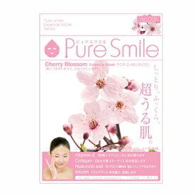 ※12個までゆうパケット送料200円※ 『エッセンス マスク 化粧水 タイプ サクラ ( Cherry biossom ) 【1枚入】 ( Essence Mask Series for lotion type ) 【Pure Smile (ピュア スマイル)】』