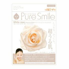※12個までゆうパケット送料200円※ 『エッセンス マスク 化粧水 タイプ ホワイトローズ ( White Rose ) 【1枚入】 ( Essence Mask Series for lotion type ) 【Pure Smile (ピュア スマイル)】』