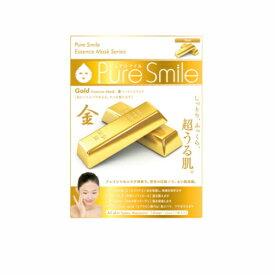 ※12個までゆうパケット送料200円※ 『エッセンス マスク 化粧水 タイプ 金 ( Gold ) 【1枚入】 ( Essence Mask Series for lotion type ) 【Pure Smile (ピュア スマイル)】』
