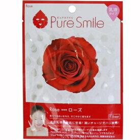 ※12個までゆうパケット送料200円※ 『エッセンス マスク 乳液 タイプ ローズ ( Rose ) 【1枚入】 ( Essence Mask Series for milky lotion ) 【Pure Smile (ピュア スマイル)】』