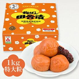 中田食品 紀州産南高梅 梅ぼし田舎漬 1kg 【特大粒】 塩分11% 梅干し 減塩