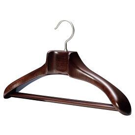 AUT-02/木製メンズジャケットハンガー/マーズブラウン【国産木製ハンガー/中田工芸製/中田ハンガー】