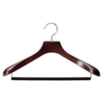 木製メンズスーツハンガー:Authentic-05(フェルトバー)正面