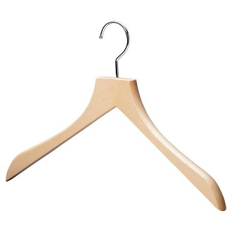 AUT-08/ wooden men shirt hanger / clear