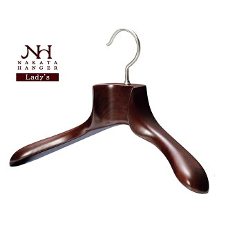 Wooden Jacket Hanger for Women / Mars Brown / NH-3S