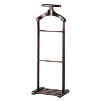 Wooden Valet Hanger Stand / Giorno / Smoked Brown