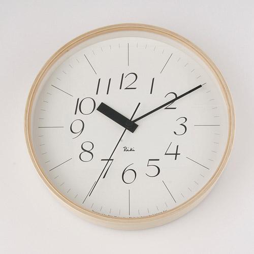 渡辺 力 デザイン 電波クロック渡辺力デザインクのロック電波時計!♪《お買い物合計金額6,500円で送料無料!》