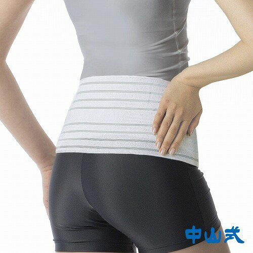 中山式 胃腸腹巻メッシュ M-LL ホワイト 中山式 腹巻 腰痛 メッシュ 腰 お腹 通気性 蒸れにくい 下腹