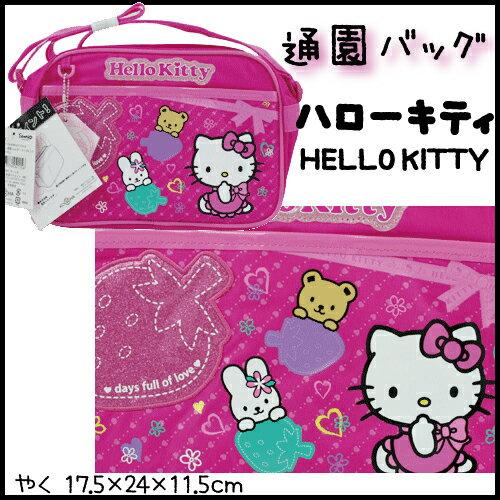 【ハローキティ HELLO KITTY/いちご・ローズピンク】キャラクターショルダーバッグ(通園バッグ)