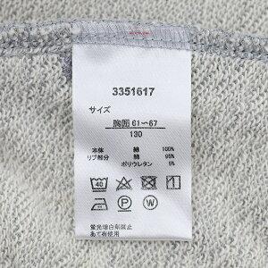 綿100%V.O.A100-160cm子供キッズ裏毛フード付きフルジップパーカートレーナー
