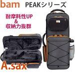 BAMアルトサックスケースPEAK(ピーク)PEAK3021SN【収納スペースUP】【耐摩耗性と耐水性に優れた合皮素材】