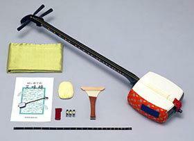 スズキ学校用細棹三味線セット「かえでMS-8」木製+樹脂製・のべ棹【お取り寄せ商品】【送料無料】