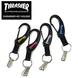 【割引クーポン配布中】 THRASHER (スラッシャー) CARABINER KEY HOLDER カラビナ キーホルダー キーチェーン 【ネコポス対応可】