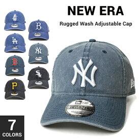 【クーポン利用で最大1,000円OFF】 NEW ERA (ニューエラ) Rugged Wash Adjustable Cap 9TWENTY キャップ 帽子 ストラップバックキャップ MLB メンズ レディース ラギッドウォッシュ NEWERA 【あす楽対応】【RCP】