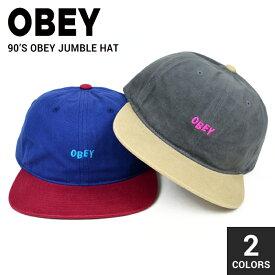 【割引クーポン配布中】 OBEY (オベイ) 90'S OBEY JUMBLE HAT CAP キャップ 帽子 ストラップバックキャップ 6パネルキャップ メンズ レディース ユニセックス ストリート スケート 【RCP】