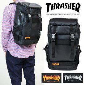 【割引クーポン配布中】 THRASHER (スラッシャー) LOGO FLAP BACKPACK バックパック フレイムロゴ マグロゴ リュック ストリート スケート BAG バッグ 鞄 【あす楽対応】