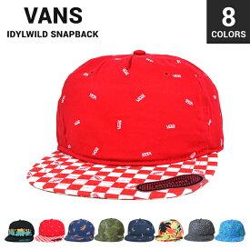【割引クーポン配布中】 VANS (バンズ) IDYLWILD SNAPBACK HAT CAP スナップバック キャップ メンズ レディース ユニセックス 帽子 ストリート スケート ヴァンズ 【あす楽対応】