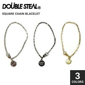 【割引クーポン配布中】 DOUBLE STEAL BLACK (ダブルスティール ブラック) SQUARE CHAIN BLACELET スクエア チェーン ブレスレット アクセサリー メンズ 【ネコポス便発送で送料無料】【バーゲン】