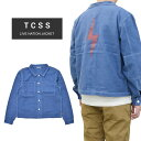 【割引クーポン配布中】 TCSS (ティーシーエスエス) ジャケット LIVE NATION JACKET キャンバスジャケット メンズ アウター ブルー S-XL JK1825 【あす楽対応】【RC